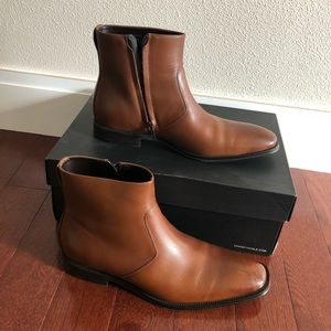 Kenneth Cole leather brown tan Chelsea boots